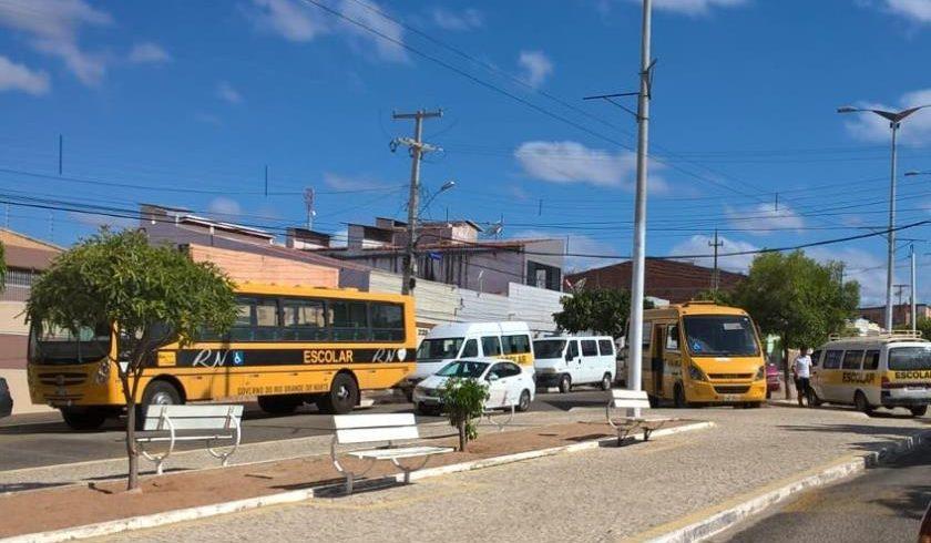 Vistoria em transporte escolar